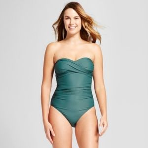 NWT merona one piece swimsuit size L